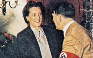 Hitler with his secretary, Christa Schroeder