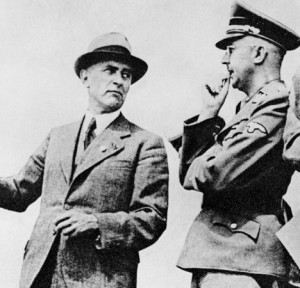 Plotters: SS chief Heinrich Himmler with Max Faust, engineer with Nazi-backed company I. G. Farben