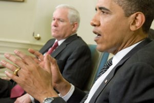 US Secretary of Defense Robert Gates (left) says the Pentagon has updated its plans for using military force against Iran at the request of President Barack Obama.