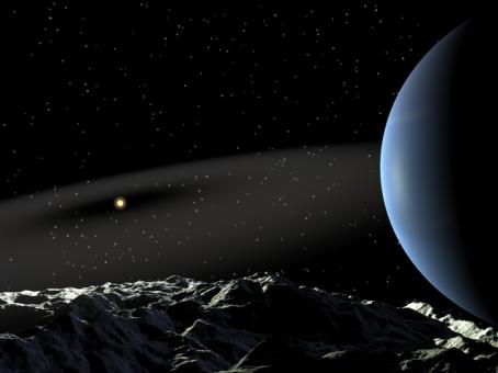 Epsilon Eridani c. How an artist envisions this planet.