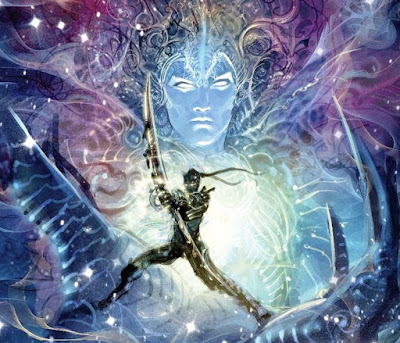 Lord Vishnu's most famous Avatar; Lord Krishna. The two are one and the same.